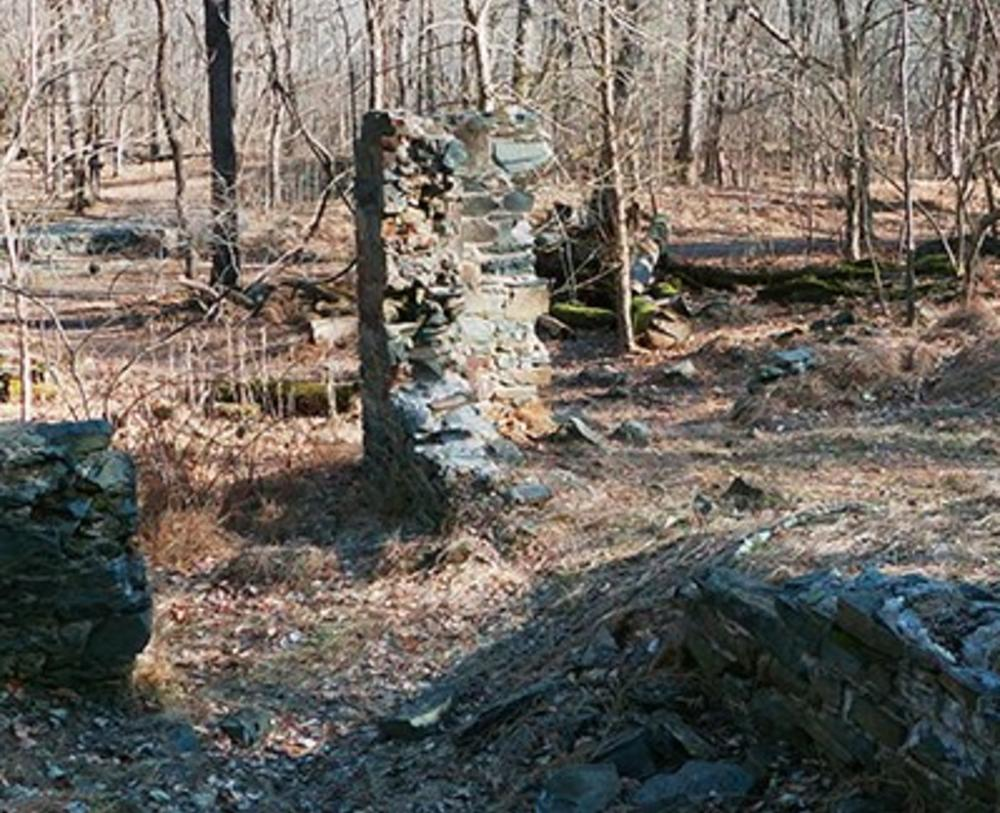 Here is an image of the stone ruins of Matildavile. This was the Superintendents House