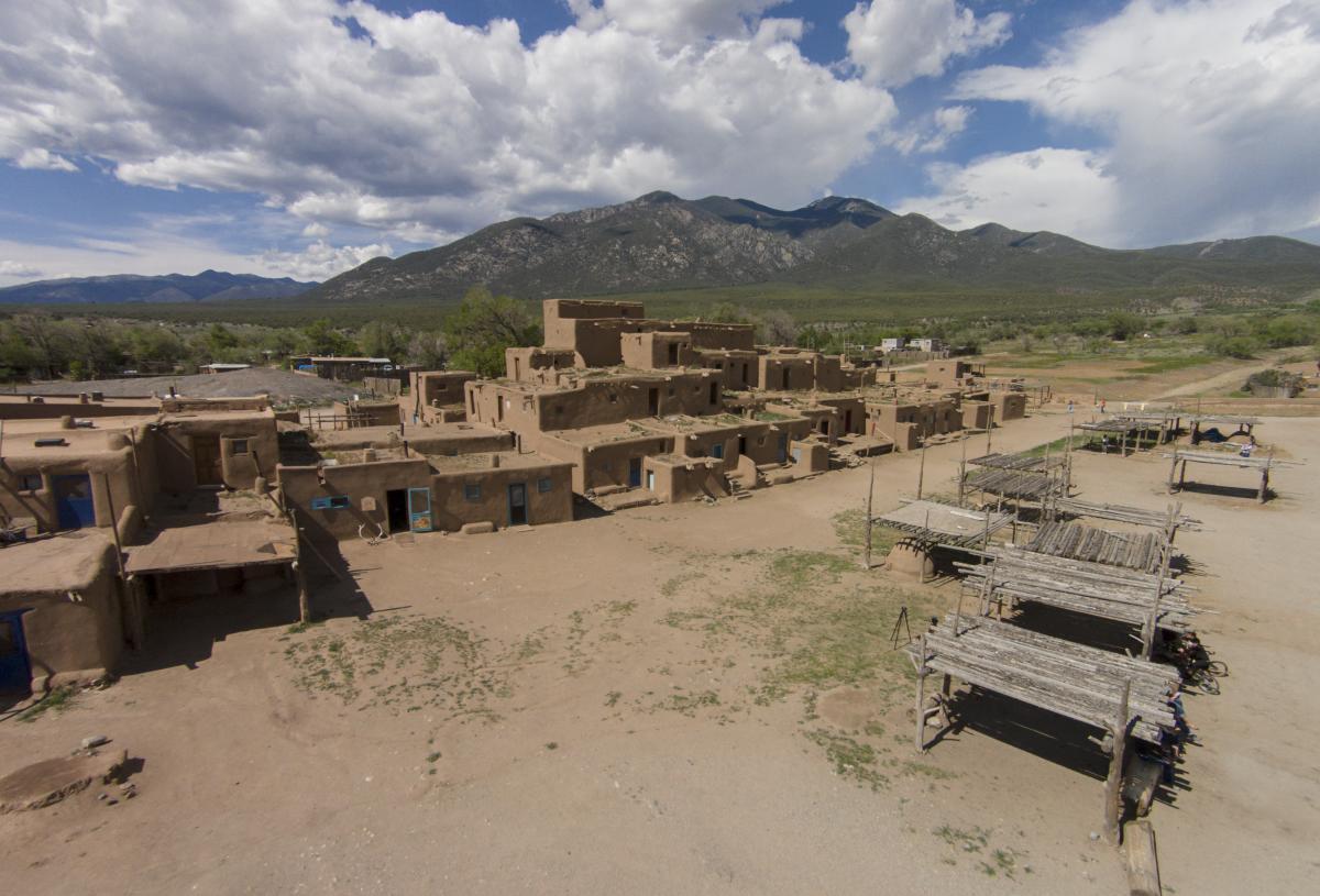 Taos Pueblo Ariel