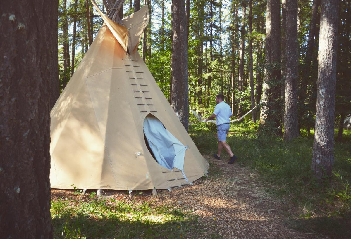 Tipi Village Retreat summer campout by Melanie Griffin