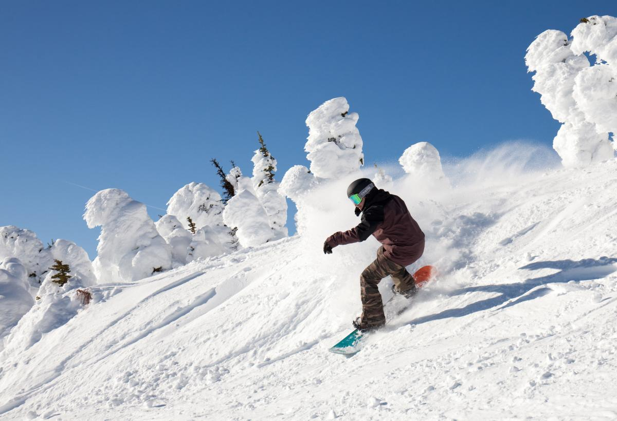Snowboarder at Big White Ski Resort (6)