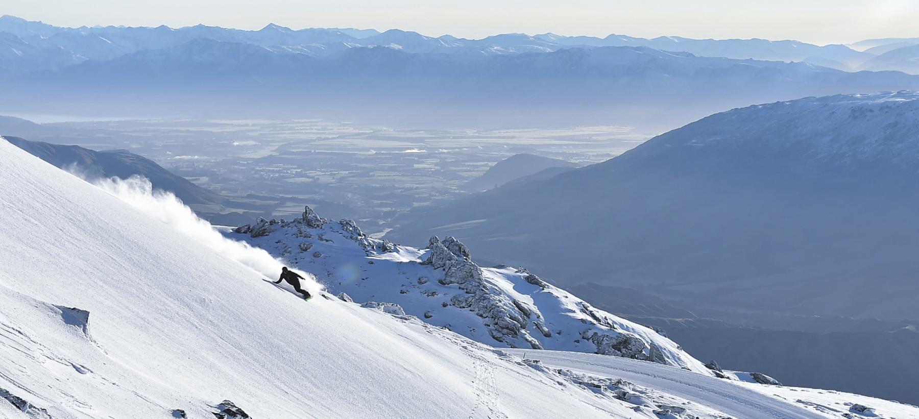 Snowboarder at Cardrona Alpine Resort