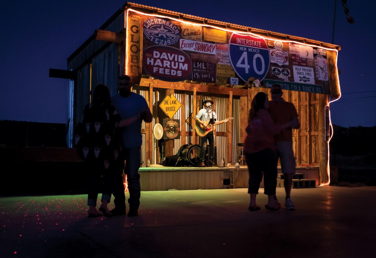 Singer-songwriter Tanner Houston gets people dancing at No Scum Allowed Saloon.