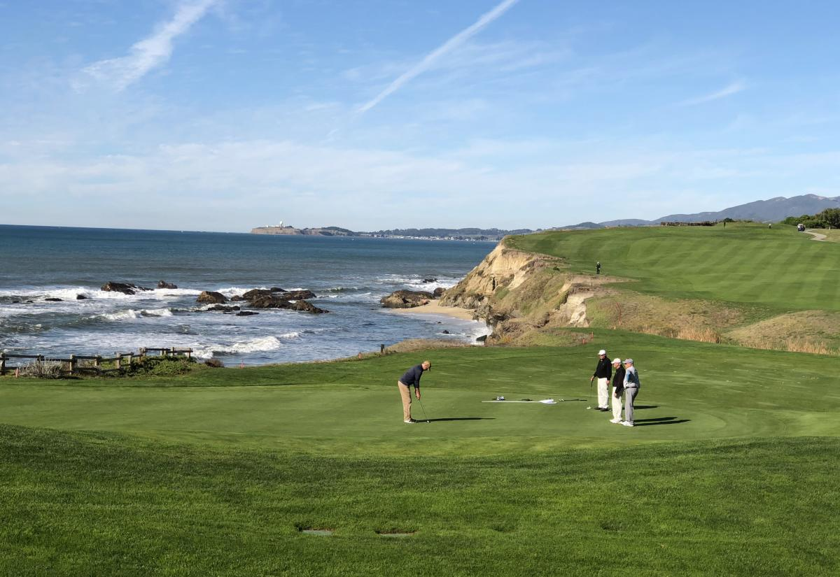 Golfers at the Half Moon Bay Golf Links