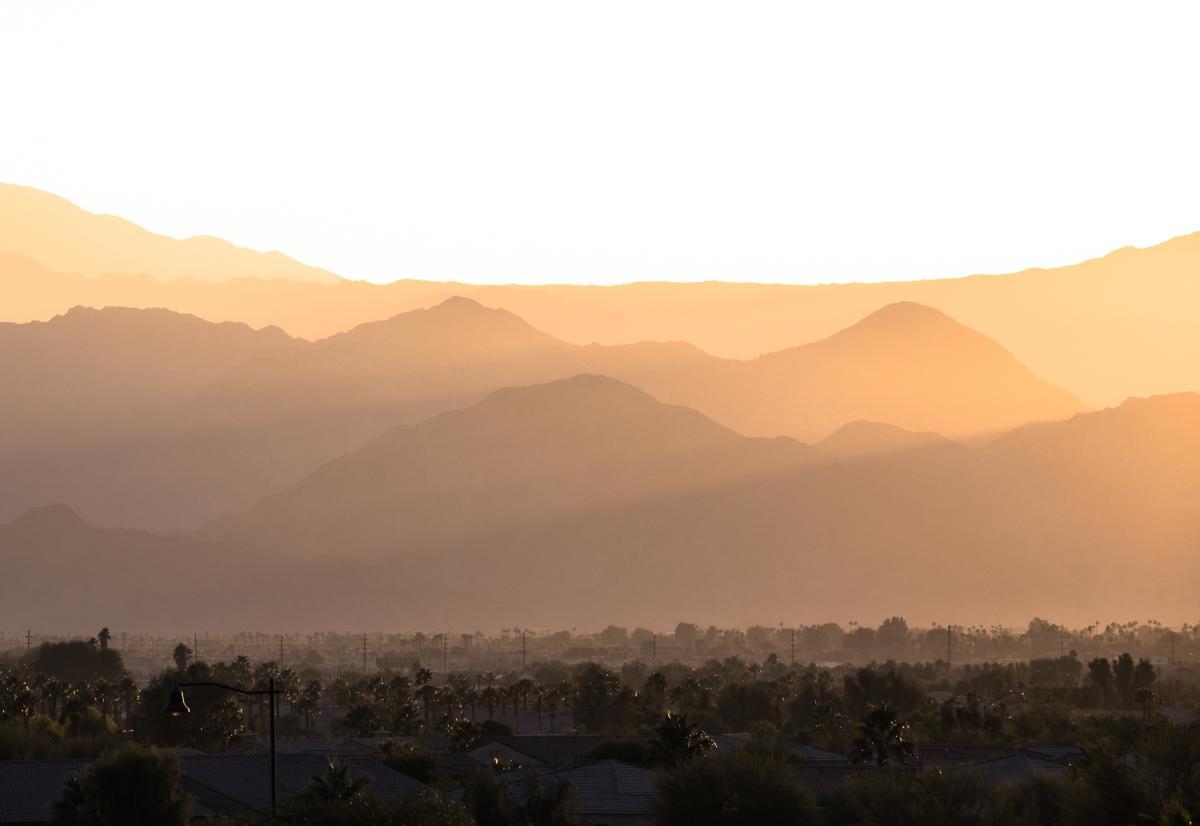 San Jacinto foothills at sunset