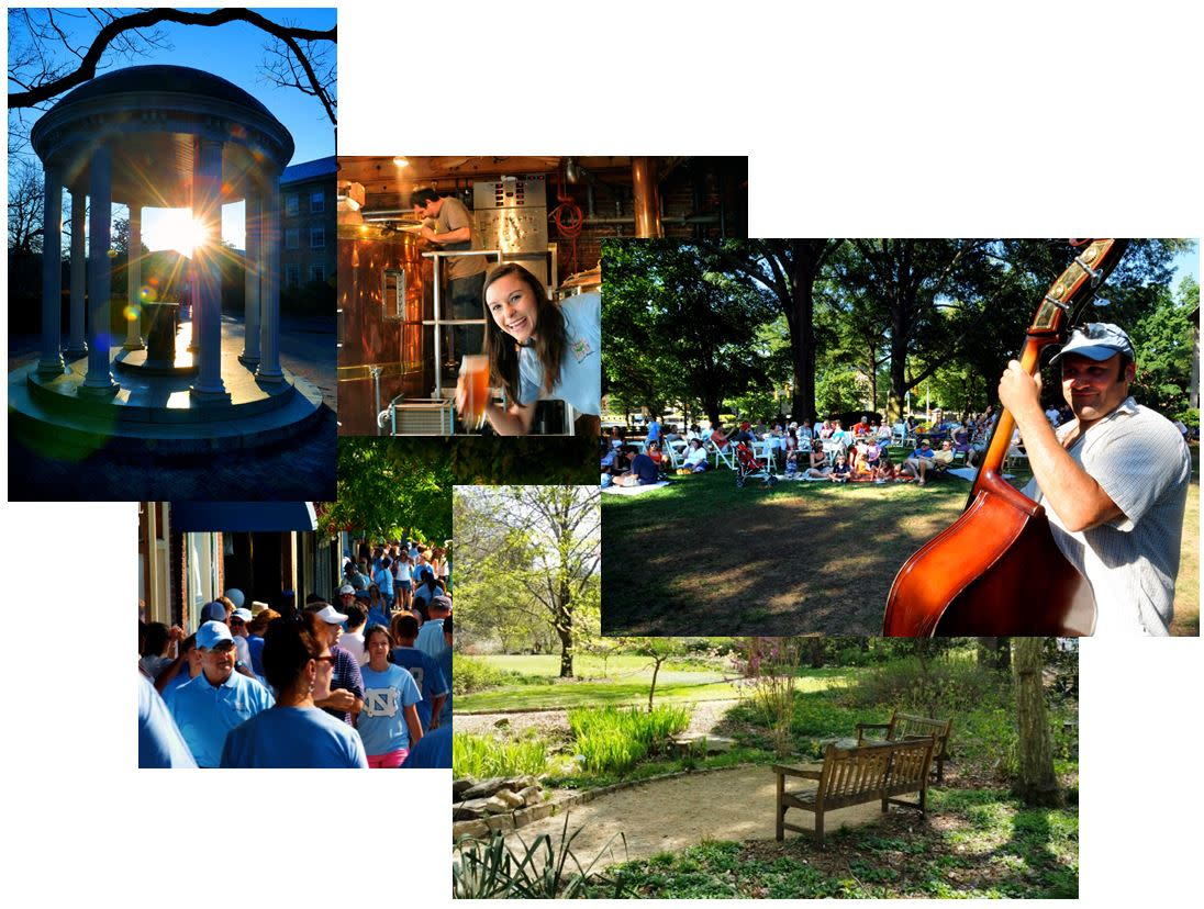 Collage of Things to Do in Chape Hill