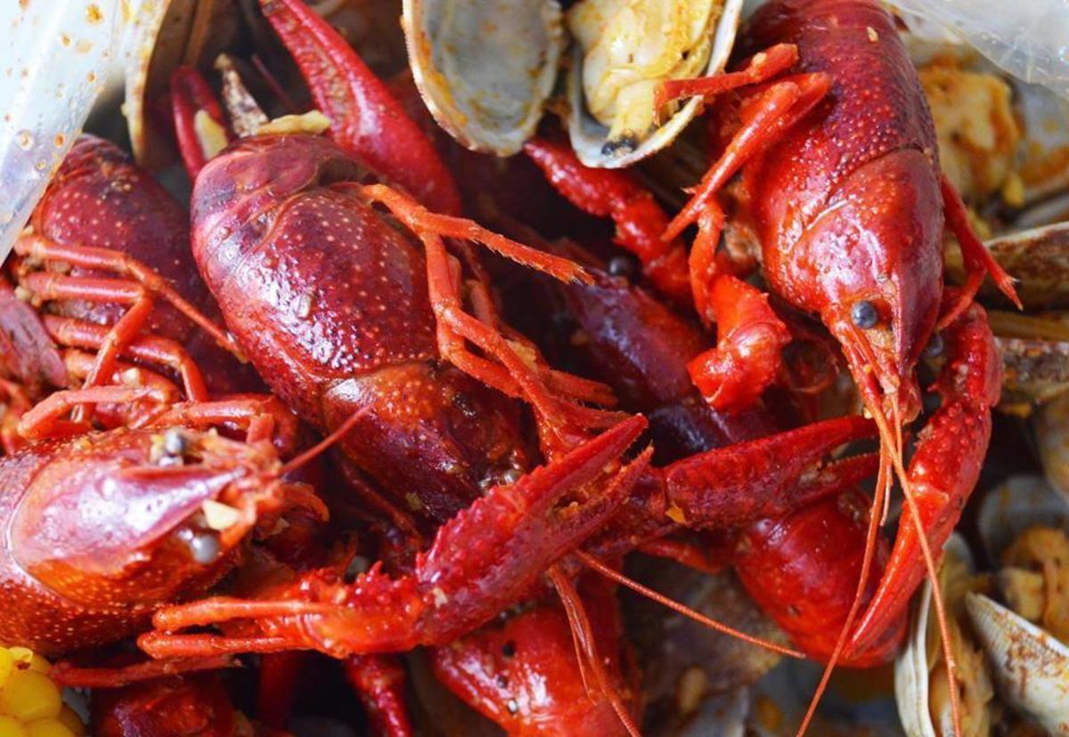 Crawfish boil at Pier 88 in Huntsville, AL