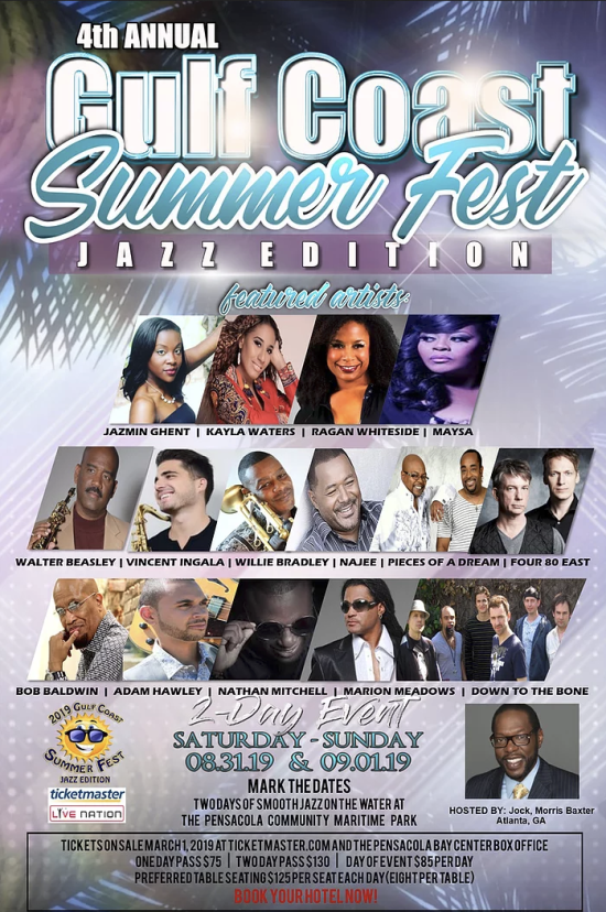 Gulf Coast Summer Fest Jazz Edition 2019
