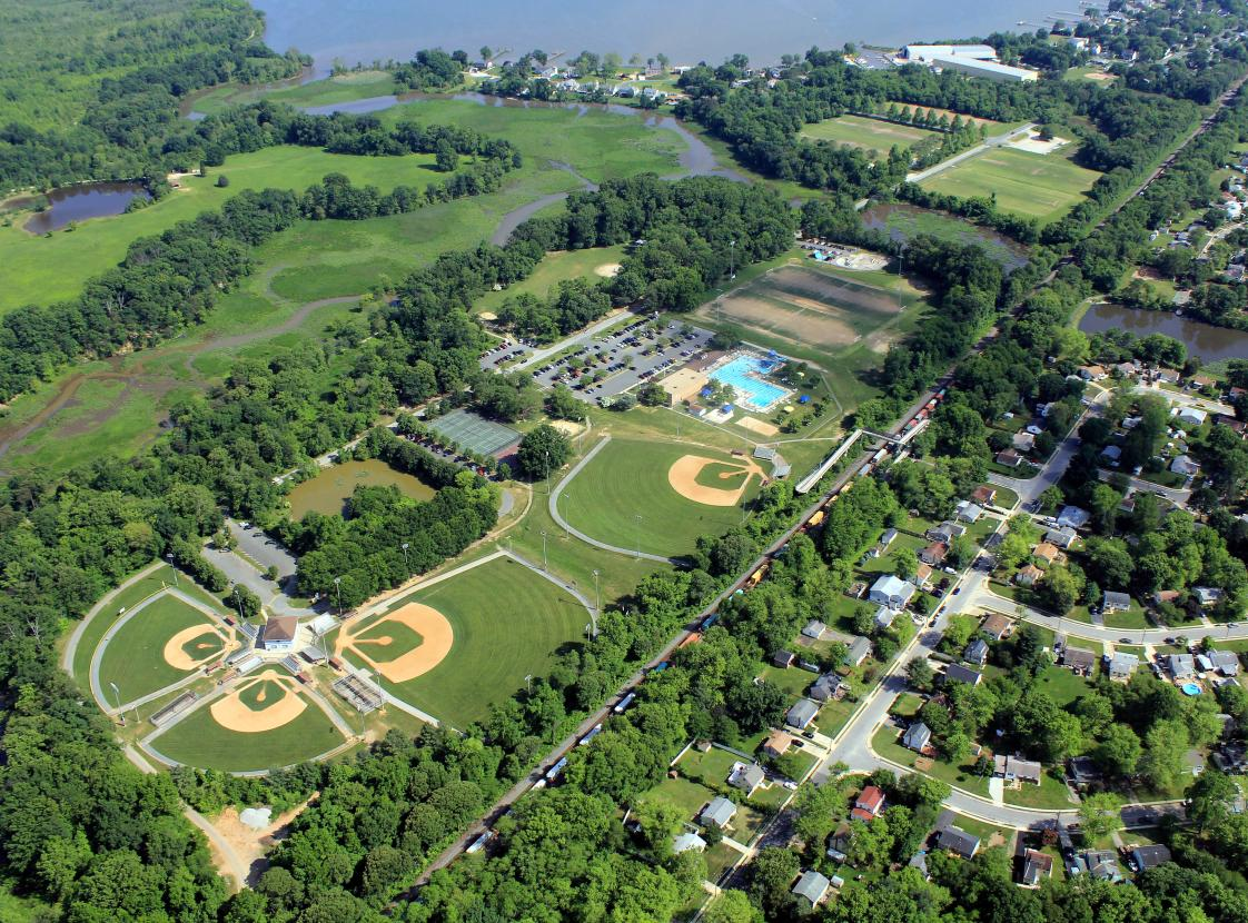 Aerial View Veterans Park