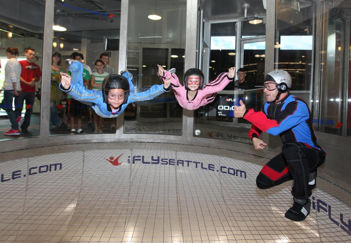 Kids Flying in the Tunnel at iFLY Indoor Skydiving