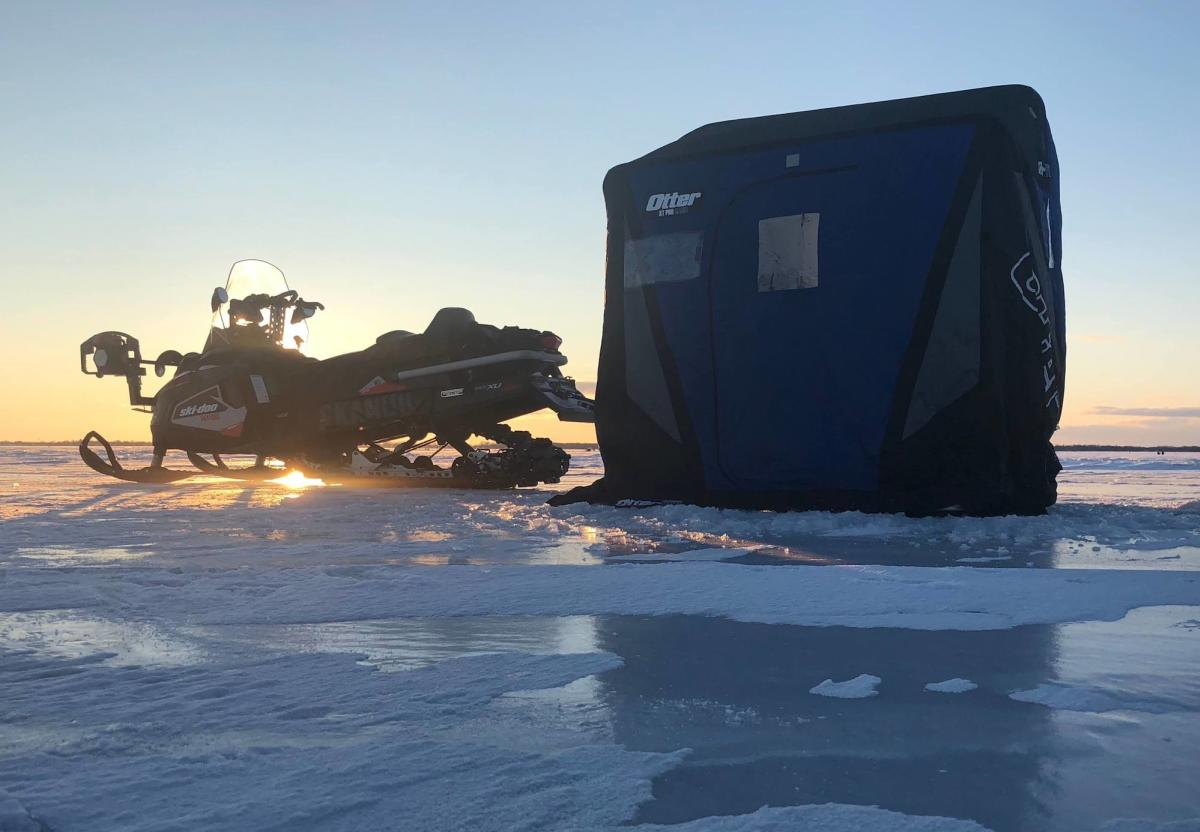 Snowmobile at Saginaw Bay