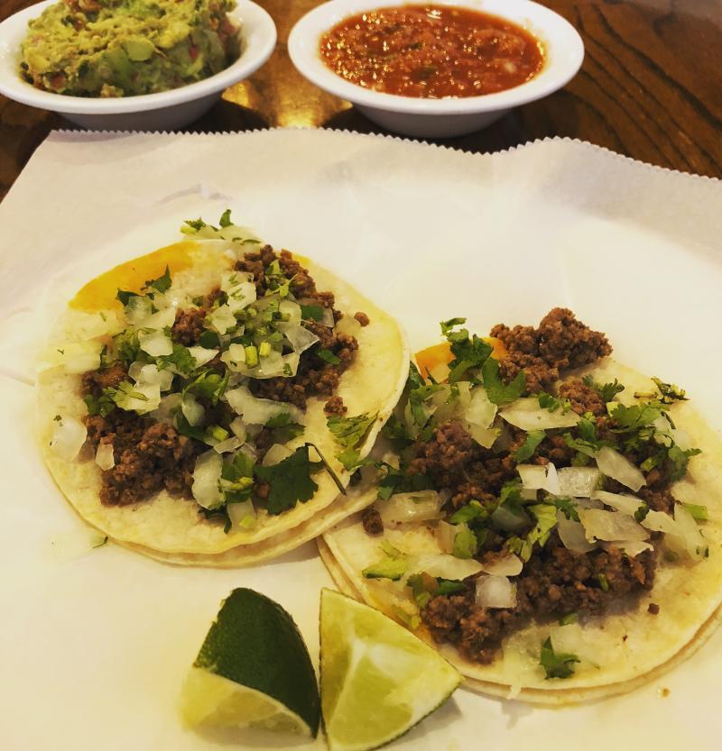 street tacos at La Casa Taqueria