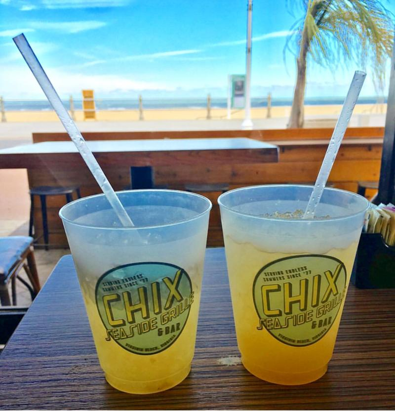 Chix Seaside Grill provides patio dining with drink favorites and beachside views.