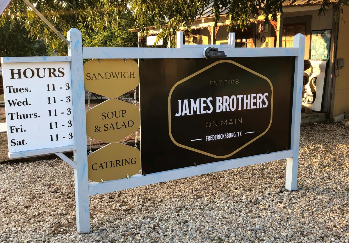 James Brothers on Main Front Exterior Sign