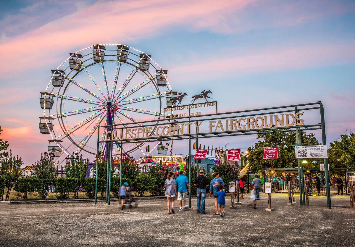 Gillespie County Fairgrounds Entrance