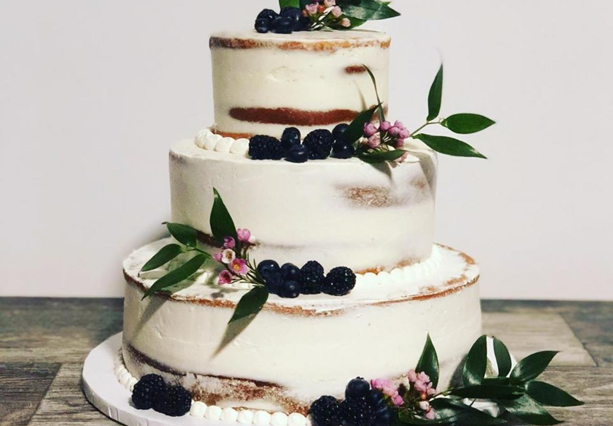 Blackbird Bakery wedding cake