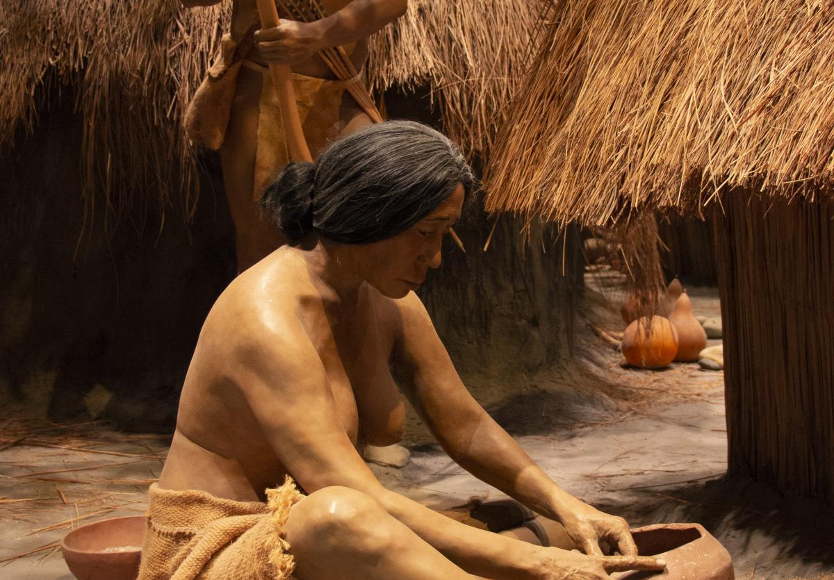 Cahokia Mounds exhibit