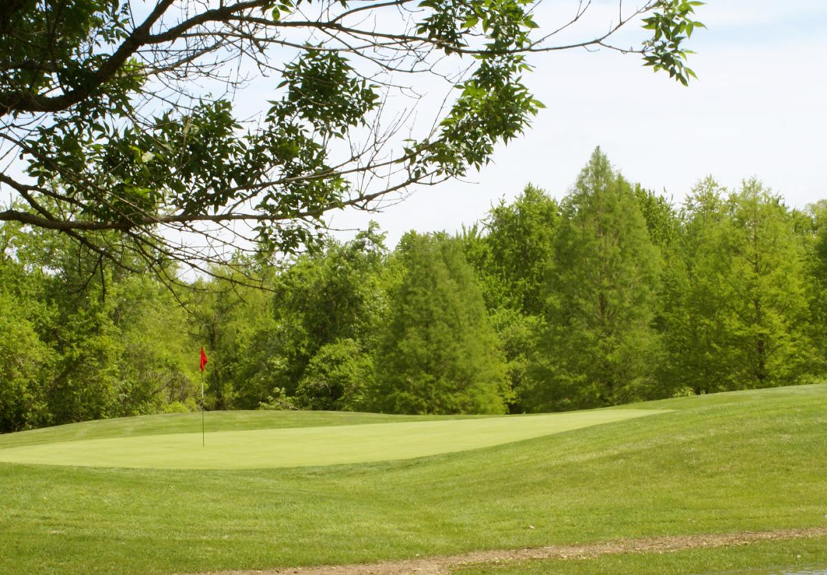 Playing golf at the Rolling woods golf course