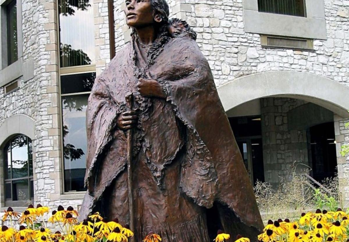Sacagawea Statue at LCCC
