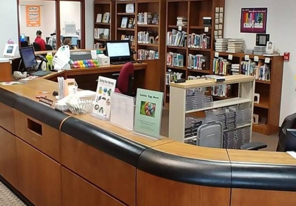 tri-township library counter