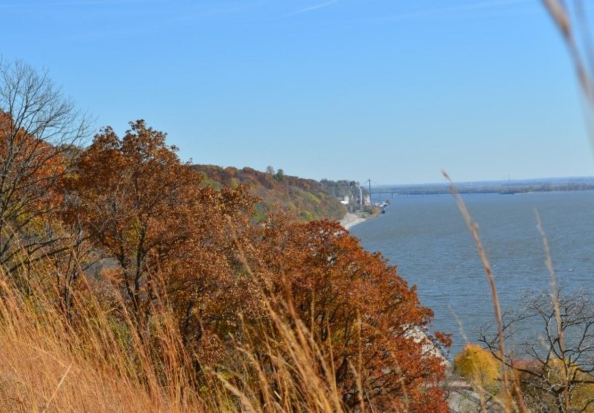 View of Mississippi River and Great River Road from The Nature Institute