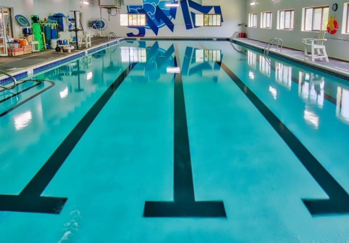 Swimming pool at Edwardsville YMCA Esic Center