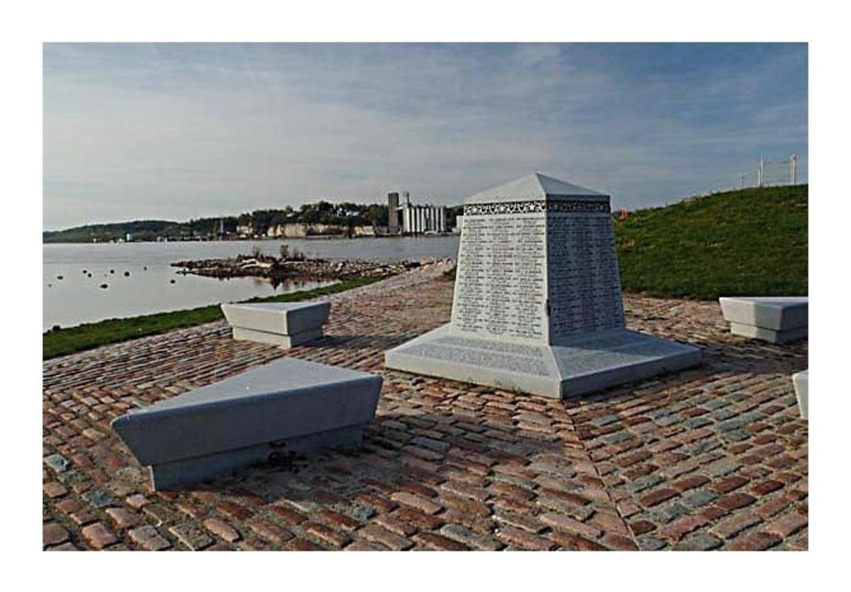 Smallpox Island is part of the Lincoln & Civil War Legacy Trail in Alton, Illinois