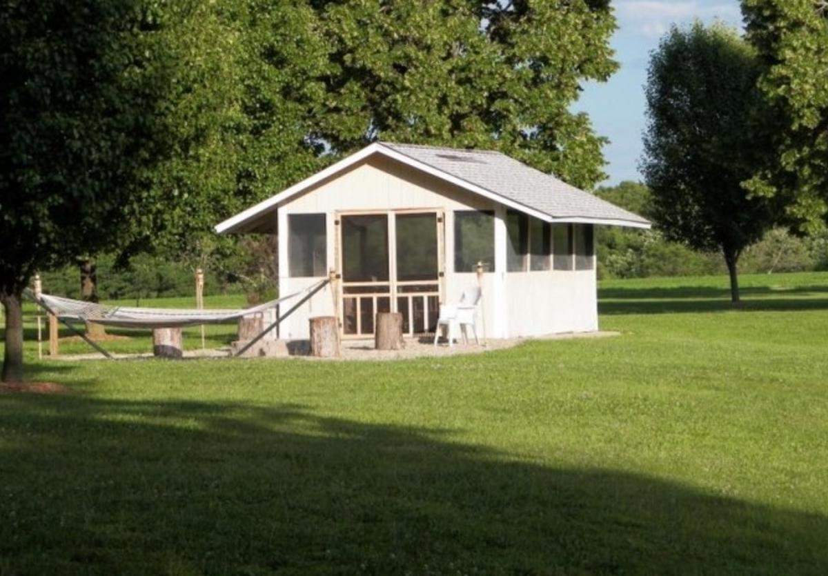 the campground house picnic shelter