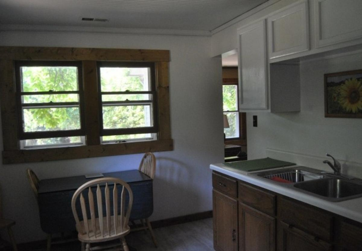 kitchen in the cabin