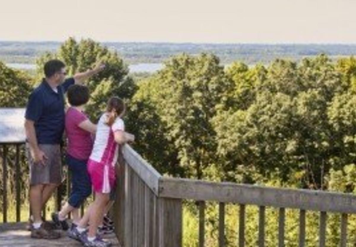 Lookout point at Pere Marquette State Park