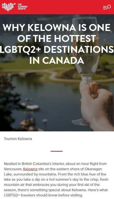 LGBTQ+ Destination Canada Article