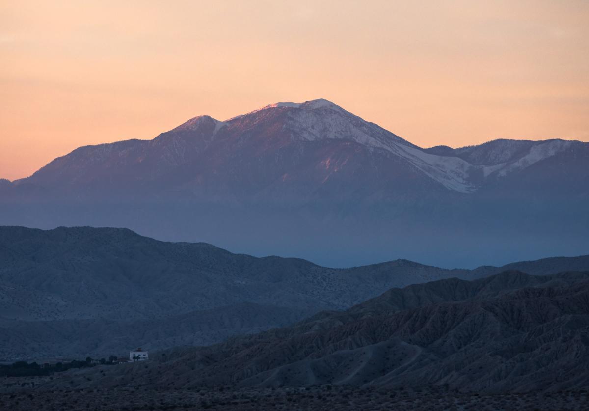 San Gorgonio Mountain at sunset