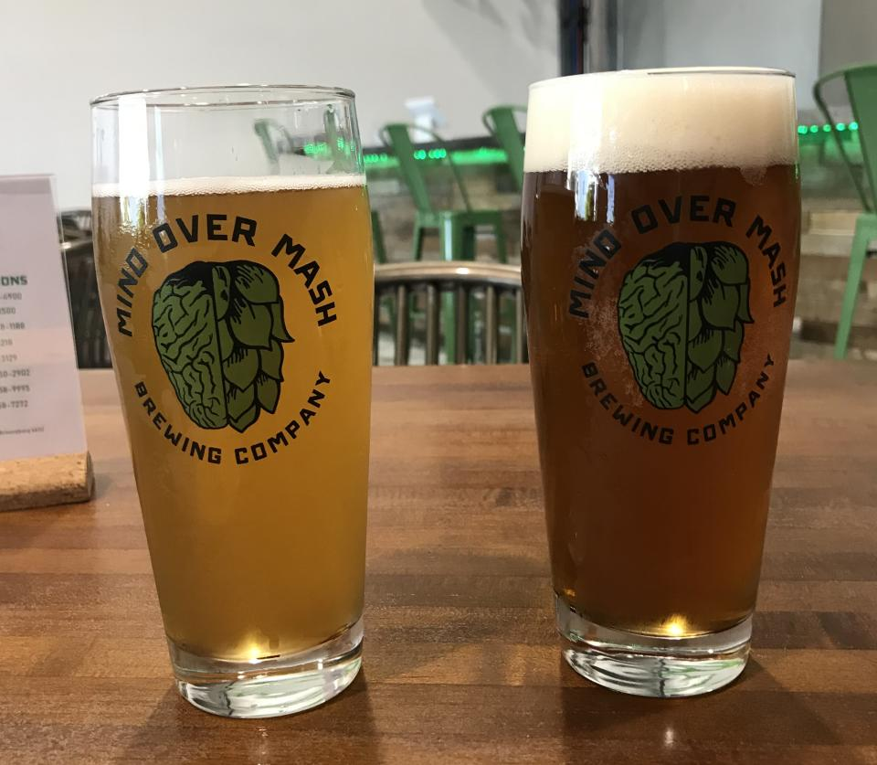 Crisp pints at the Mind Over Mash Brewing taproom
