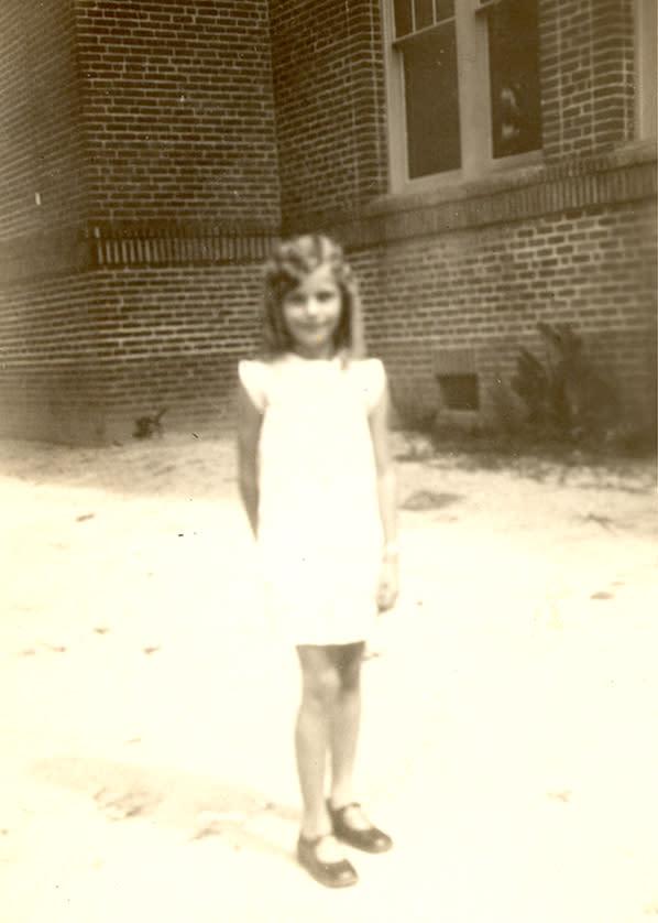 Ava Gardner age 8 at the Brogden School.