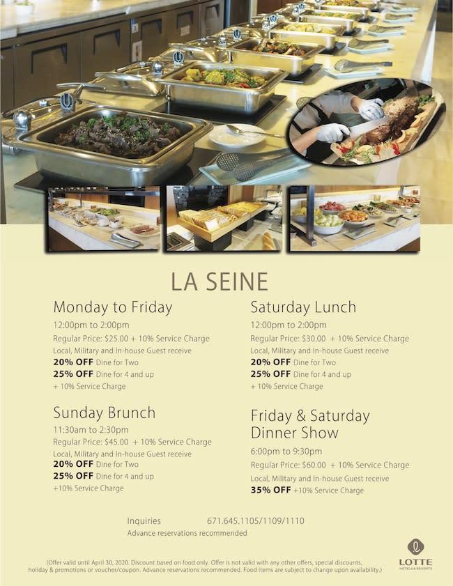 LOTTE-LaSeine-Specials-Discount March-9Mar2020