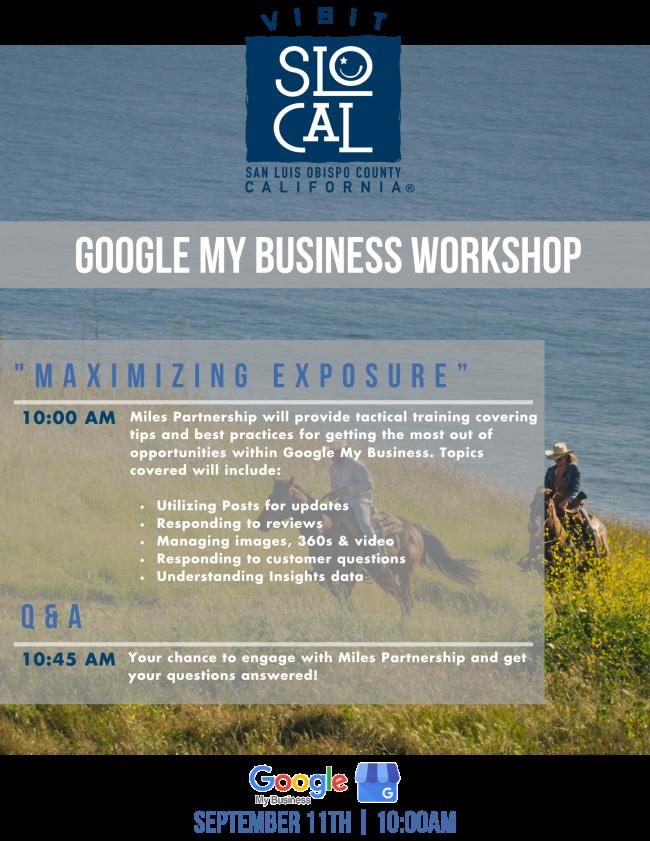 Google My Business Agenda