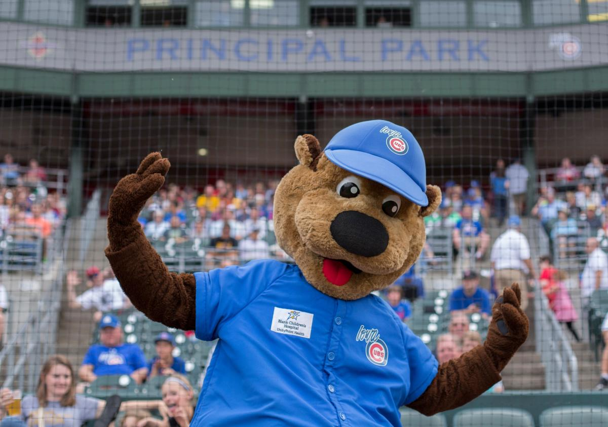 Iowa Cubs Cubbie Bear Mascot