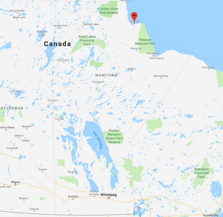 Map of Churchill, Manitoba