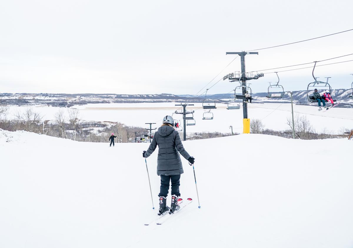skiing at asessippi