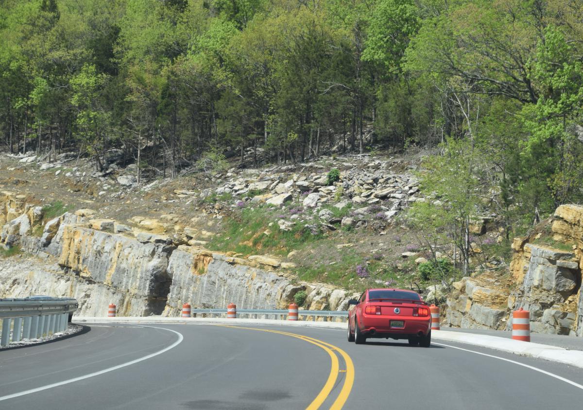 Mustang Driving outside Huntsville