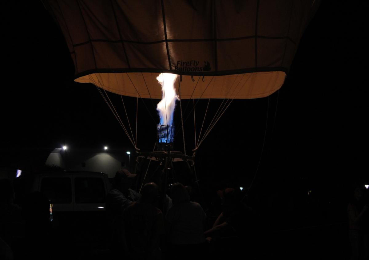 Hot Air Balloon flame burning inflating Hot Air Balloon