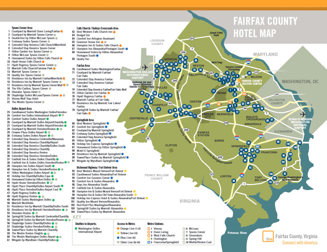 Fairfax County Hotel Map 07_19