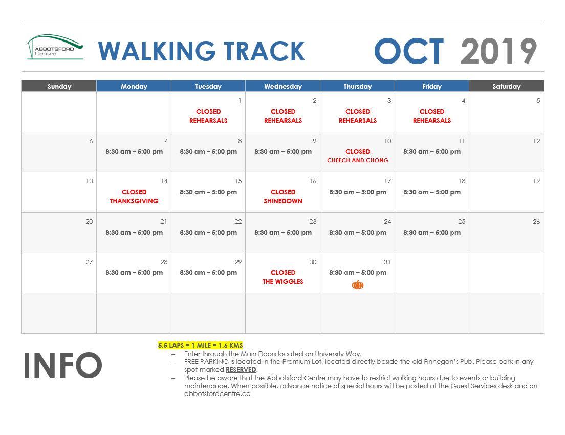 October Walking Track