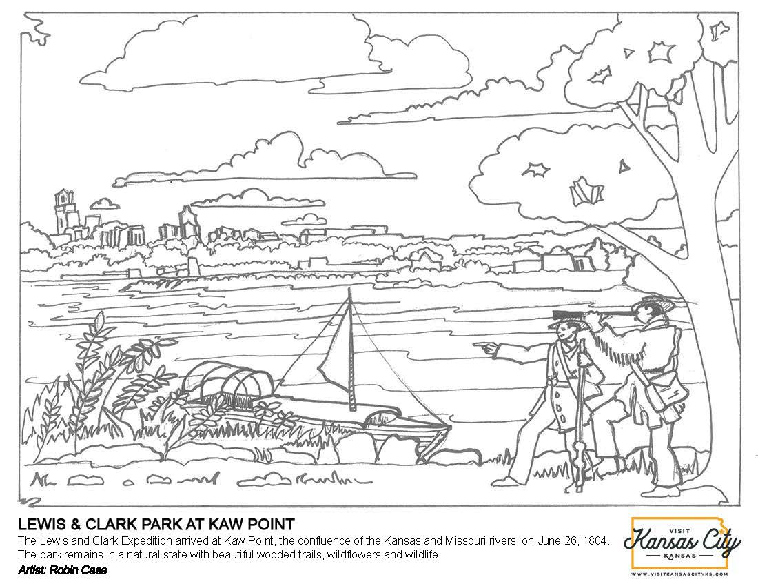 Lewis & Clark at Kaw Point