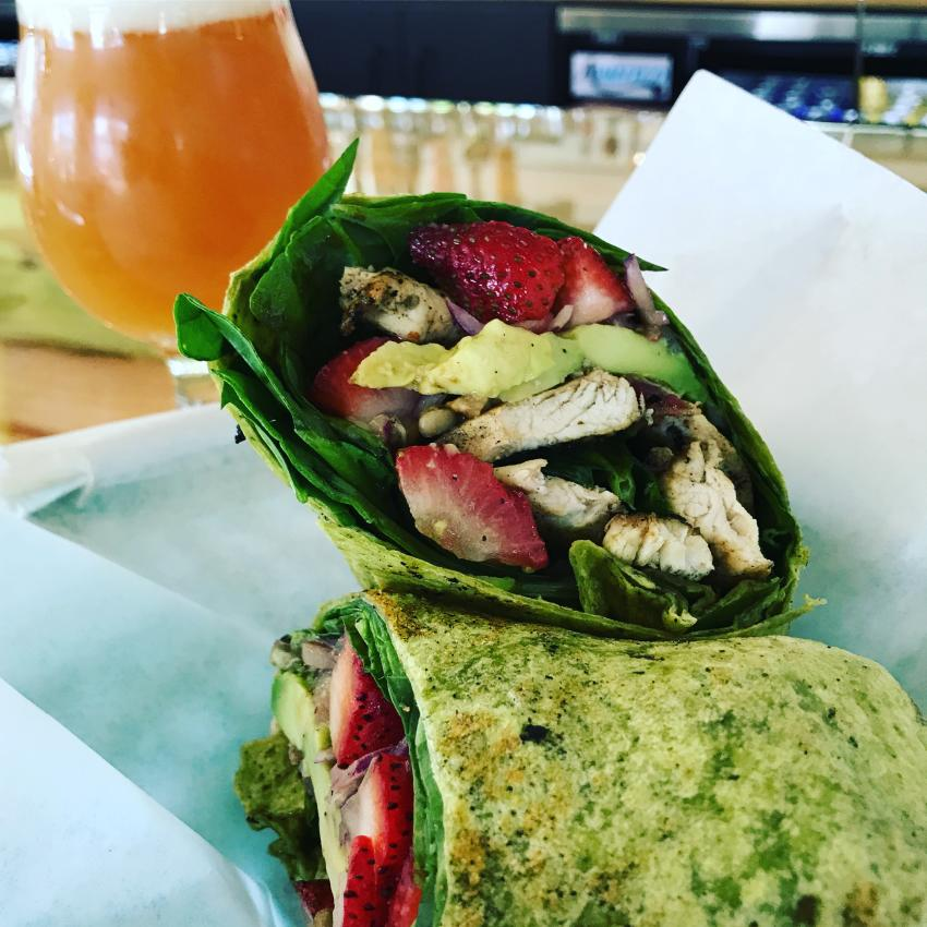 Snack Attack Wrap and beer