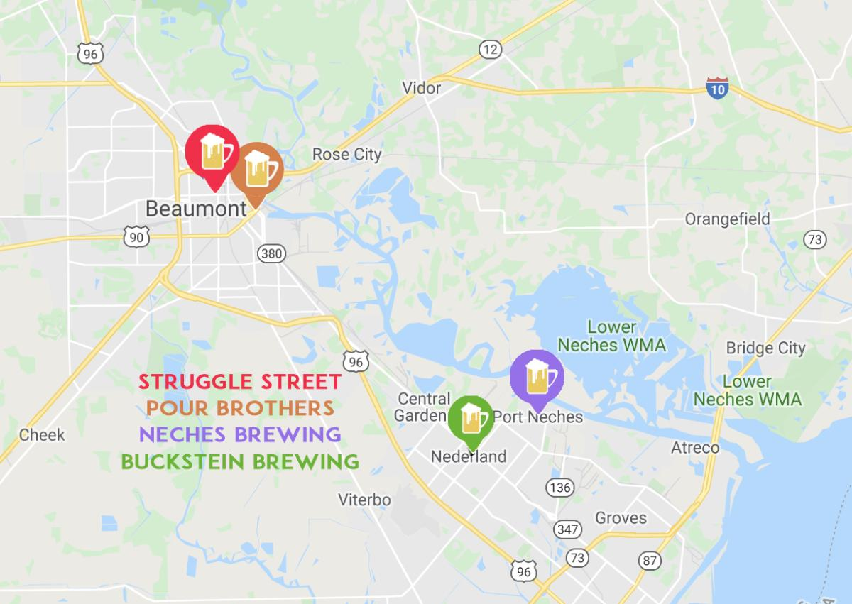 Beaumont Brewery Map