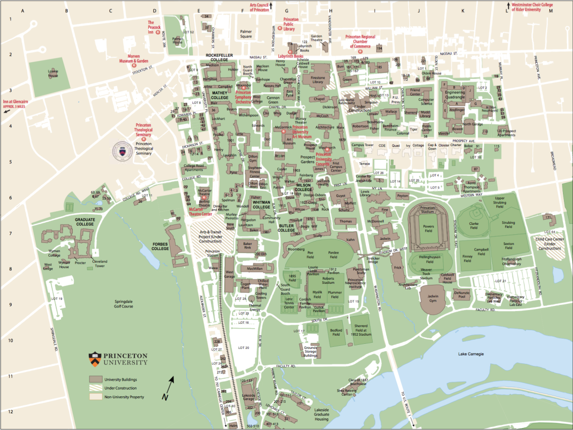 Princeton NJ Maps | Map of Princeton University Campus