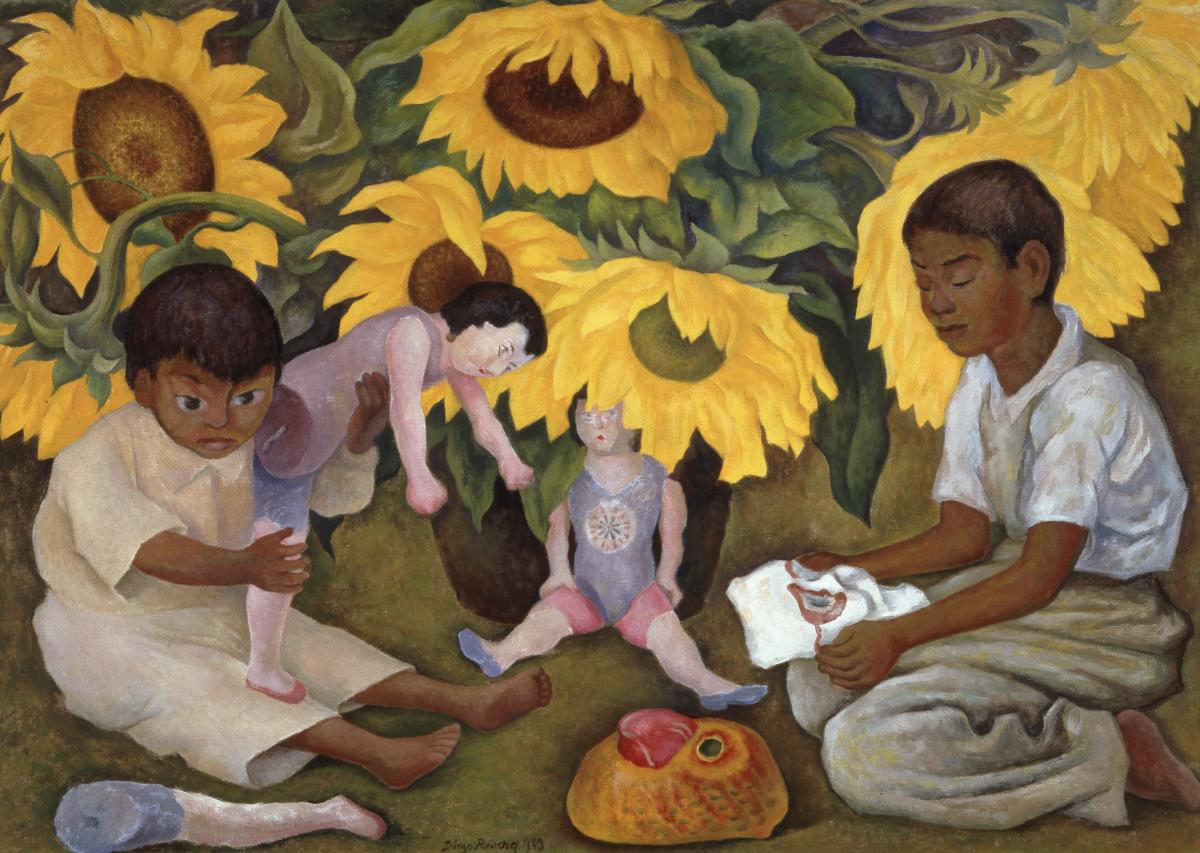 Diego Rivera Sunflowers