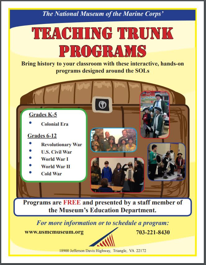 Marine Corp Museum Travel Trunk Flyer