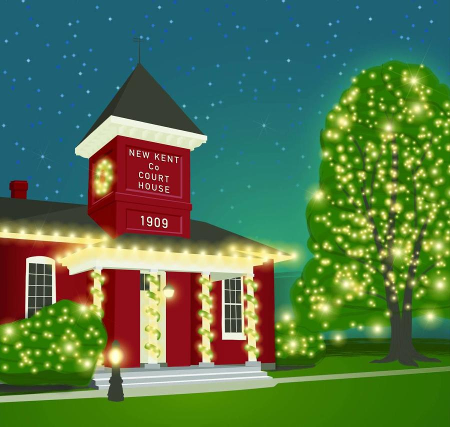 New Kent County Courthouse Grand Illumination