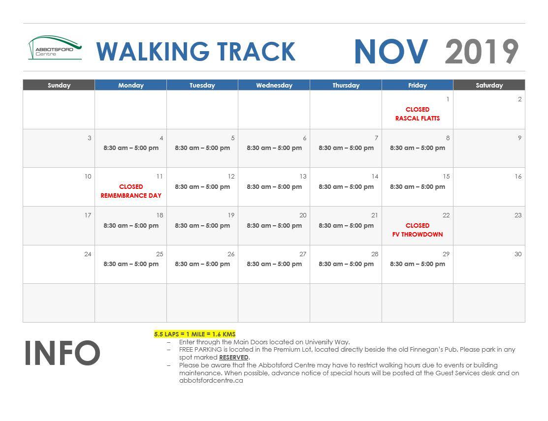 November Walking Track